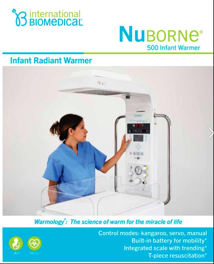 International Biomedical - NuBorne 500 Infant Warmer 2